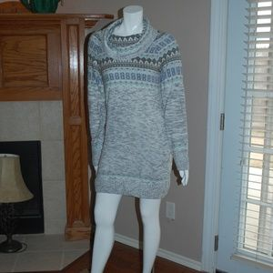 NWOT Maurice's Nordic Sweater Dress Cowl Neck